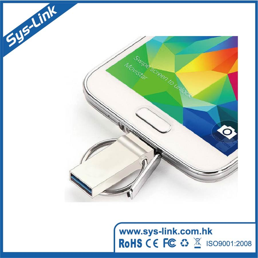 wholesale mini metal 3.0 otg usb flash drive for android phone factory price high speed