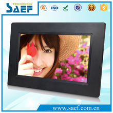 OEM 7 inch 800x480 mini digital photo frame with motion sensor and SD card