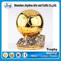 special design gold soccer ball trophy customized from factory