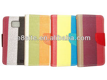Multicolor PU Wallet Leather Case For SamSung Galaxy S2 i9100