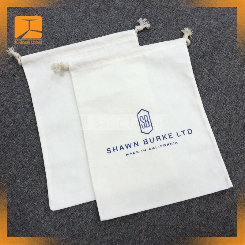 High quality cotton shoe bag custom logo drawstring shoe bag custom shoe dust bag