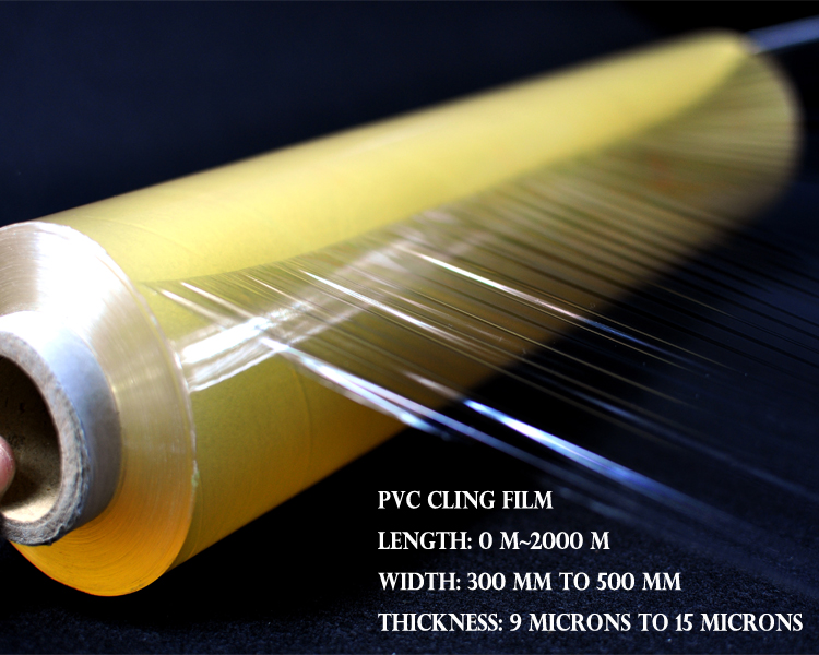 Cling wrap rolls fresh wrap pvc thermoforming film for meat packaing