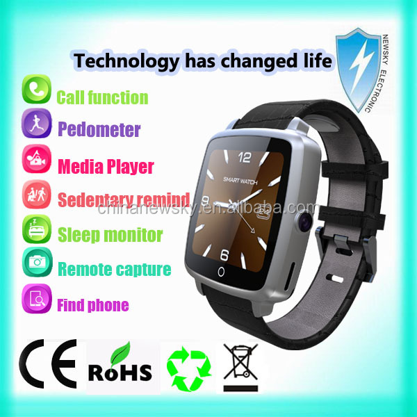 New product 2016 Bluetooth smart watch android smart watch android ce rohs smart watch