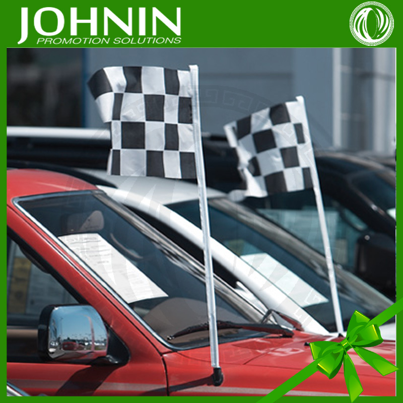 Factory Directly Custom Top Quality Polyester Car Antenna Flags