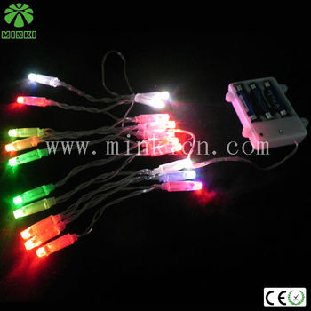 PVC colorful led battery powered waterproof led string lights