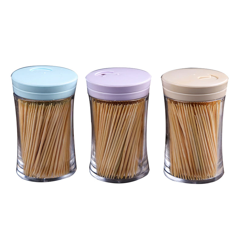 New inventions in china Food Grade Plastic bottle bamboo tooth pick toothpick
