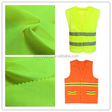 Neon color fluorescent fabric for police reflective vest