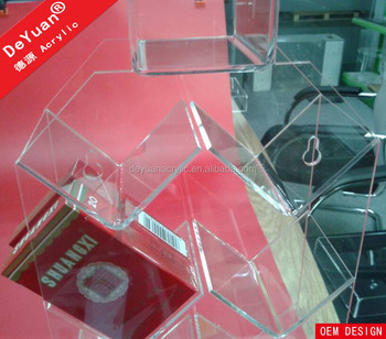 Acrylic cigarette pack display unit