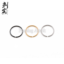 Titanium Anodized Steel Clip on Nose Hoop Flexible Non Piercing Nose Ring