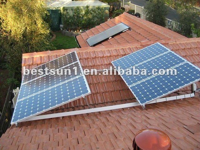 flat roof solar panels mount 300W
