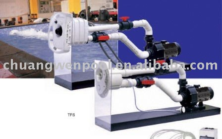 Swimming pool current counter jet stream pump