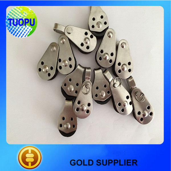Made in china stainless steel 316 swivel pulley block for sailing boat