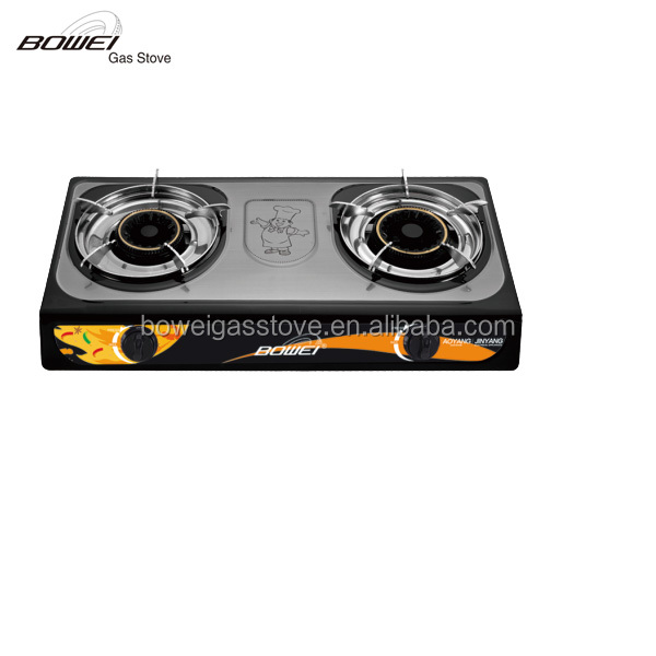 Luxurious household stainless steel portable gas burner cast iron