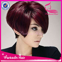 2014 the newest cheap for the party design short red highlights wigs