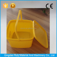 colorful food grade 3L plastic square bucket