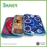 fashion printing zipper neoprene 17 laptop case