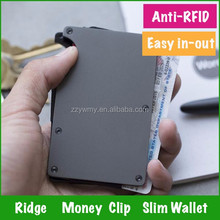 Factory Aluminum Front Pocket Slim Wallet Money Clip Credit Card Holder