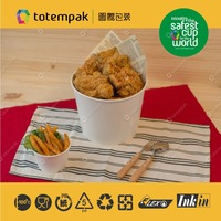 85oz PP high quality birthday party fried chicken container paper bucket