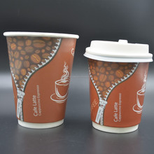 wholesale custom coffee paper cups for coffee house mini double wall paper cups for cafe super cool design paper cups in wuhan
