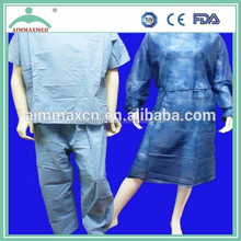 adult M/L/XL/XXL size disposable non-woven surgical gown