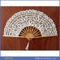 Custom printed folding silk hand fan, Cheap china factory price hand fan for wedding, Promotion gift manual bamboo hand fan