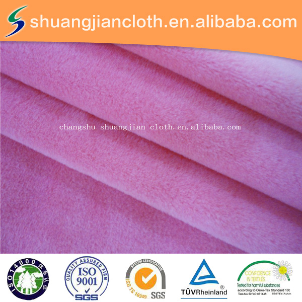 100% polyester super soft velour in solid color with spandex,garment fabric
