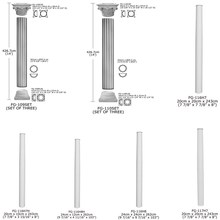 High Quality Good Price Beauty polyurethane decorative PU plastic pillars for decoration