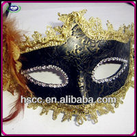 China Manufactuer Masquerade Leather Cheap Black Party Mask