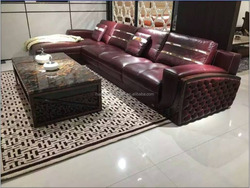 New model hot sale reclinable leather corner sofa with pictures S100