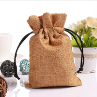 High quality fashion stylish dust proof cotton jute drawstring bag gift bags with custom logo