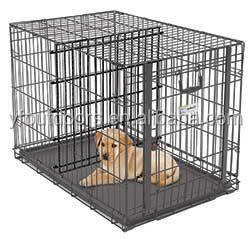 Well-suited metal welded wire mesh dog cage