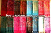 Hot sale Evening large pashmina shawls for ladies wholesale