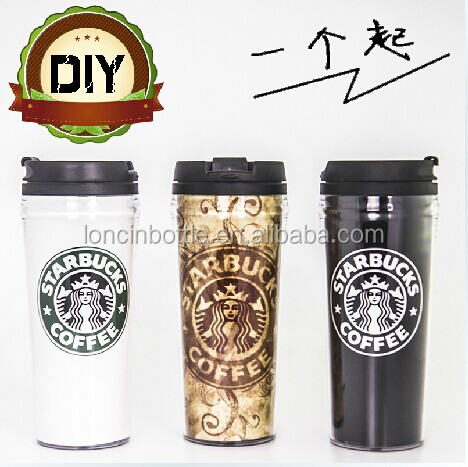 Wholesale 16oz thermal plastic TUMBLER,16oz plastic termo <strong>cup</strong>,16oz double wall insulated plastic travel mugs with paper