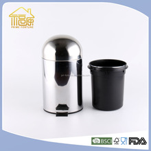 Factory Top Quality Foot Pedal Waste Bin Container Watermelon Bin Stainless Steel Recycle Bin