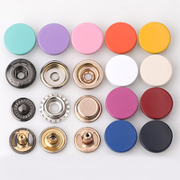 custom made garment accessories 15mm/17mm colored zinc alloy metal snap button for jackets
