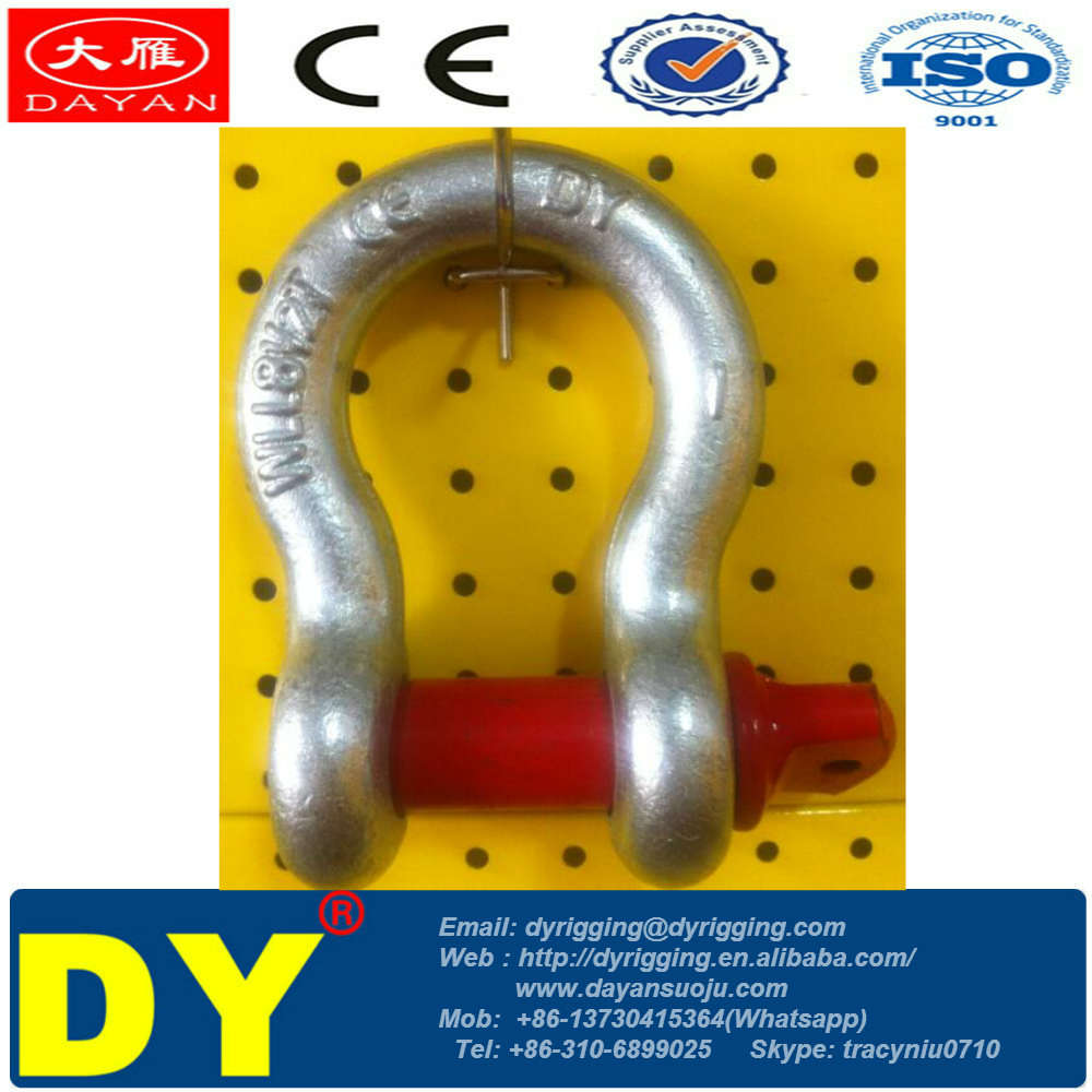 U.S Type Anchor Safety pin Bolt and Nut Bow Shackle manufacture G-2130