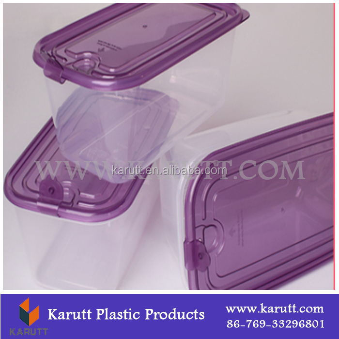 DongGuan clear Plastic Food storage box Container with lid