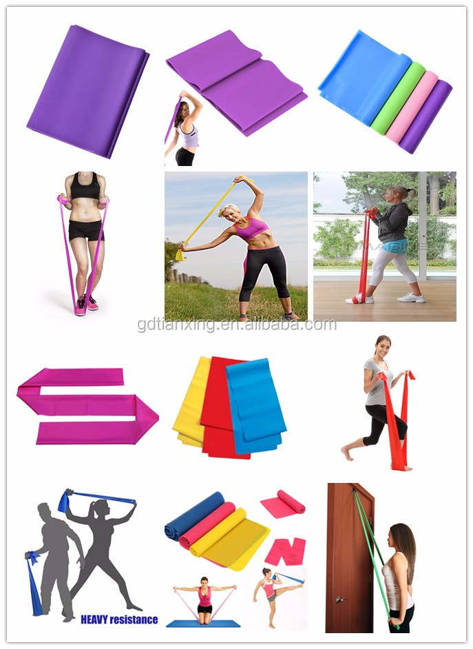 Natural Latex Exercise Training Stretch Logo Printed Latex Stretching Band