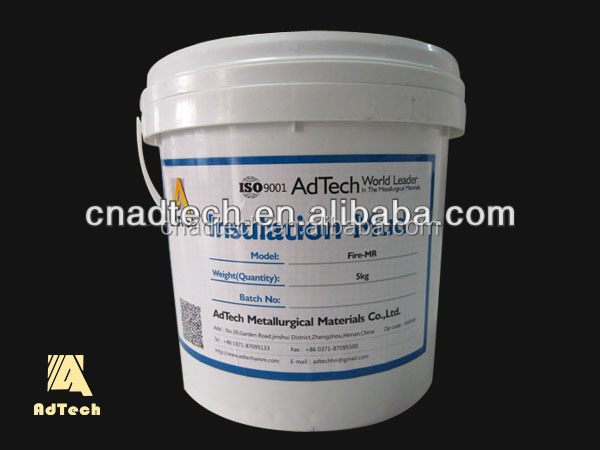Insulation reparing materials moldable fire cement, insulation mud