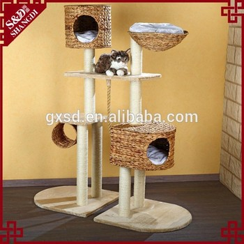 S&D Funny style Water hyacinth cat accessories cat toy house for cats