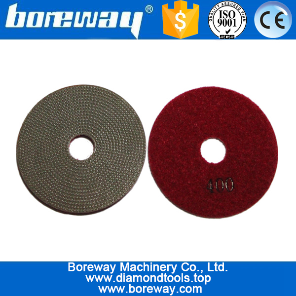 Resin dry diamond hand polishing pads for Conctete for granite