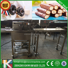2015 New style industrial chocolate coating machine, chocolate enrobing production line