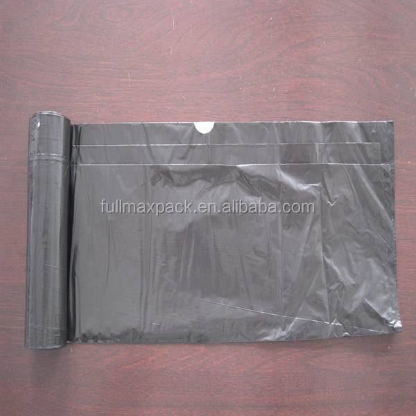 Good price LDPE black color drawstring bag