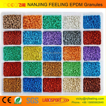 Colorful EPDM granules & EPDM rubber granules/ crumb rubber/ rubber track for playground(FL-G-V-058)