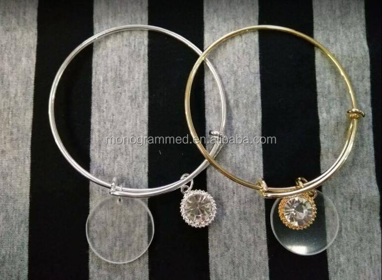Monogram Disc bangle, Alex bangle,Charm Bangle
