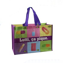 hot sale promotional colorful blue pp woven shopping bag