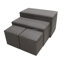 Indoor Fabric storage bench with baskets trunk Cube Ottoman