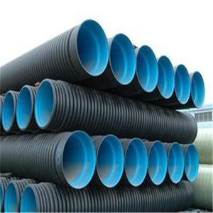 All Size 50mm 1.2 m Diameter HDPE Corrugated Plastic Drainage Pipe Double Walled