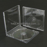 Standard 10.4mm Plastic Single Clear PS Jewel CD Case With Tray