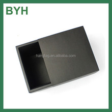 matte lamination black drawer box plain black gift box Custom shipping box